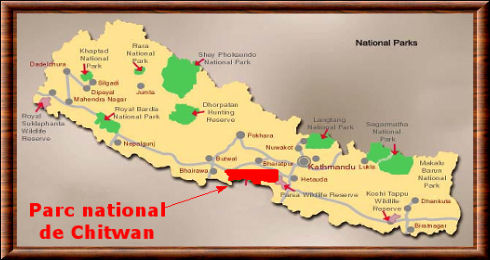 Parc national de Chitwan carte