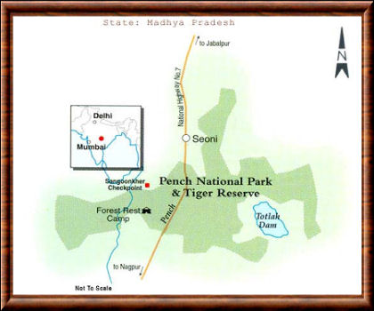 Pench carte