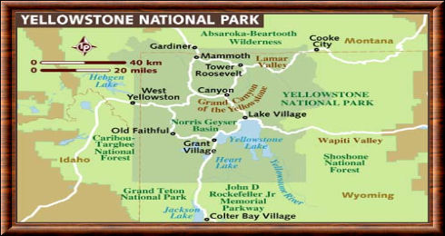 Yellowstone carte